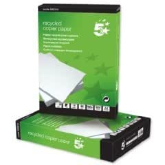 5 Star Copier Paper Recycled Ream-Wrapped 80gsm A4 White [5 x 500 Sheets]