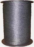 "100' 3/16"" Black Dacron - Poly Rope Double Braid"