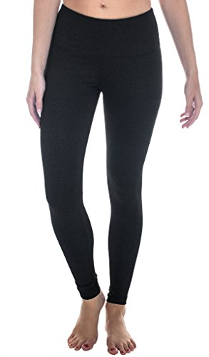 90 Degree By Reflex - High Waist Power Flex Legging - Tummy Control - Heather Charcoal XL