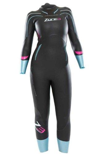 ZONE3 Vision 2014 Wetsuit Triathlón Señora, Negro/Azul, M