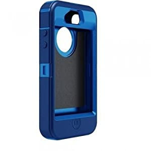 OtterBox Defender Series Hybrid Case & Holster for iPhone 4 & 4S - Retail Packaging - Ocean/Night Blue