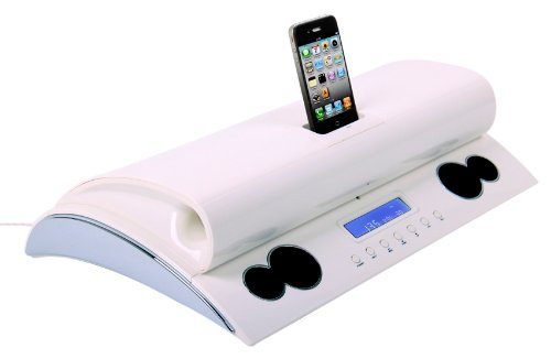 Speakal Iexecutive Iexec-Wht-01 2.1 Stereo Docking Station And Speaker System For Ipod And Iphone