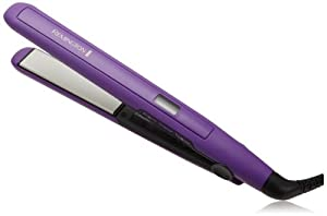 Remington S5500 Digital Anti Static Ceramic Hair Straightener, 1-inch, Purple