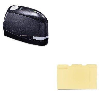 Kitbosb8Evalueunv12113 - Value Kit - Stanley Bostitch B8 Heavy-Duty Electric Stapler Value Pack (Bosb8Evalue) And Universal File Folders (Unv12113)