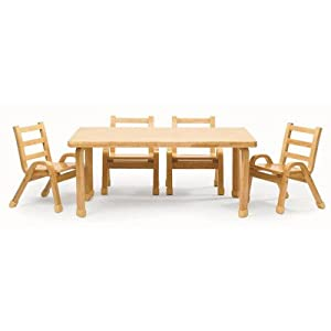 Amazon.com: Angeles Furniture Natural Wood Collection 30 x 48 x 20