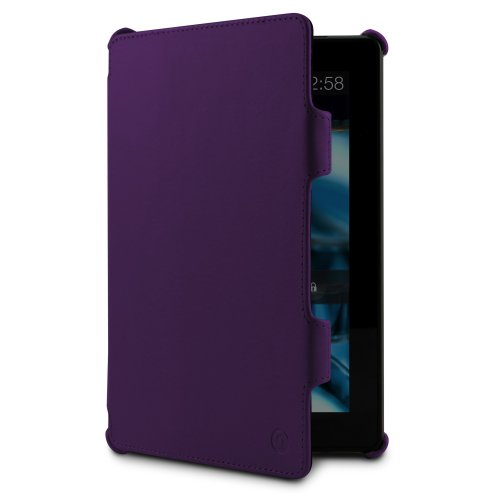 MarBlue Slim Hybrid Standing Case for the All New Kindle Fire HD, Purple (will not fit older generation HD Kindles)