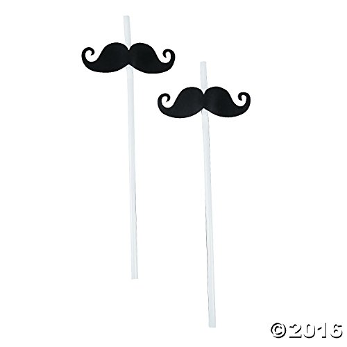 Fun Express Mustache Party Straws - 72 Piece Bulk Pack (Whistle Straws compare prices)