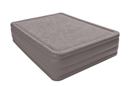 Intex Queen Raised Foam Top Air Bed Mattress High Rise Airbed With Built In Pump 67953E