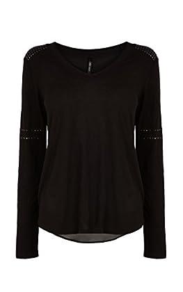 Crystal shoulder t-shirt