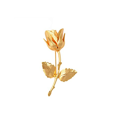 el gant broche plaqu or 24k en forme de fleur rose cadeau homme pour costume mariage 6 7 4 3cm. Black Bedroom Furniture Sets. Home Design Ideas