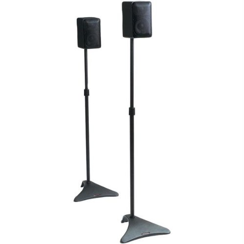 Atlantic Satellite 77305018 2 Speaker Stands (Black)