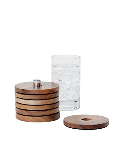 Torre & Tagus Set of 6 Soma Acacia Wood Coasters