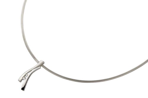 FOSSIL Damen Silber Collier 925 Sterling Silber 43 cm JF11982040