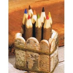 Twig Crayons - Set of 8 with Twig Holder