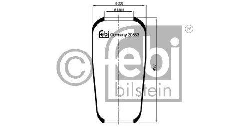 Febi Bilstein 20883 Boot, air suspension