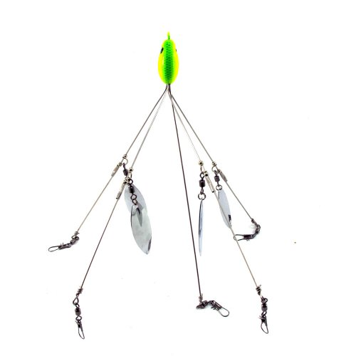SF One (1) 5 Arm 4 Blades Alabama Umbrella Rig Fishing Bass Lures Bait Kit