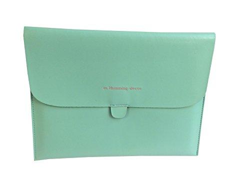 Elégante Pochette/etui/housse de protection cuir PU pour iPad4/iPad3/iPad2/iPad1/Samsung galaxy tab - Vert Bleu