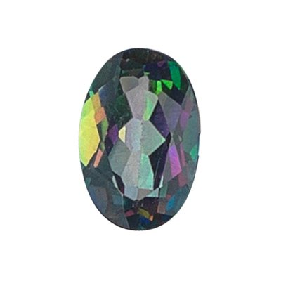 0.73 Cts of 7x5 mm AA Oval Mystic Green Topaz