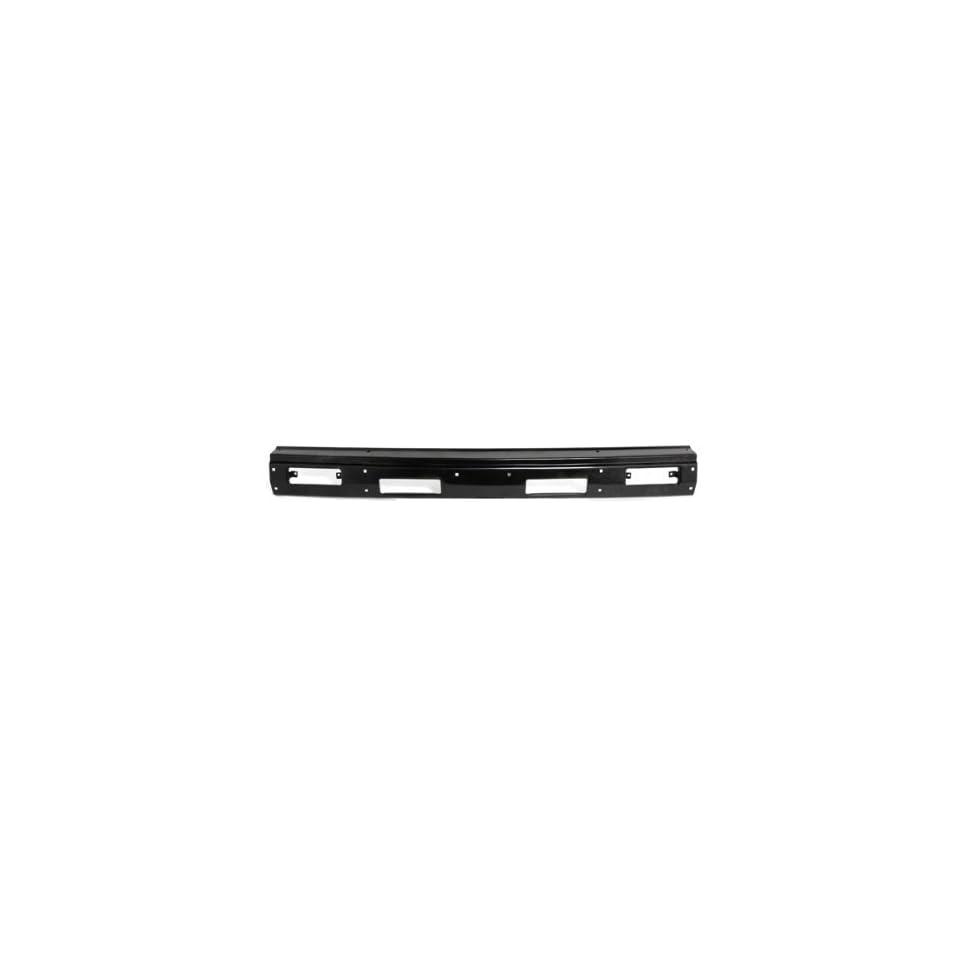 CarPartsDepot, Pickup Front Bumper Black Steel Center Face Bar w/o Filler Hole Replacement, 341 36200 10 NI1002108 6202209G26 Automotive