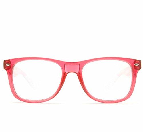GloFX Ultimate Diffraction Glasses - Transparent Red - Rave Glasses