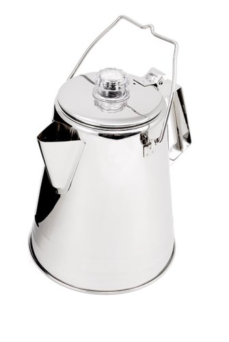 Gsi Outdoors Glacier Stainless 14-Cup Percolater front-37285