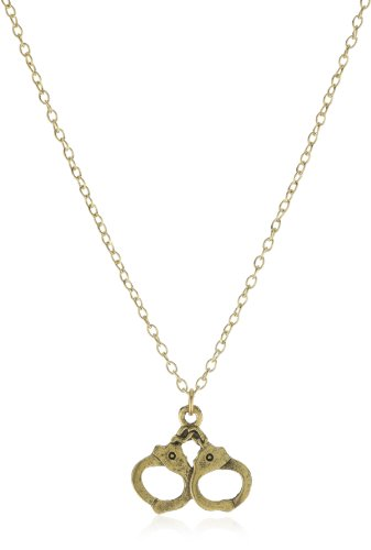 Privileged NYC Hand cuff Charm Necklace 18