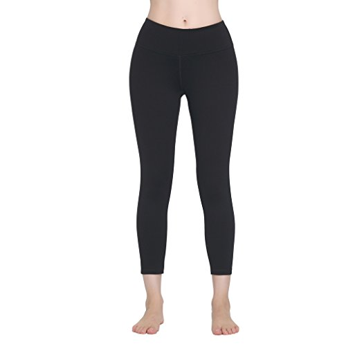 FeelinGirl Women's High Waist Capri Yoga Pants Power Flex Leggings (Champion Aeropostale compare prices)