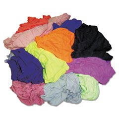 ** Polo T-Shirt Rags, Assorted Colors, 10 Pounds/Bag