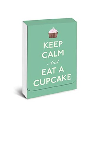 "purse notepad with magnet closure ""Keep Calm and Eat a Cupcake"""