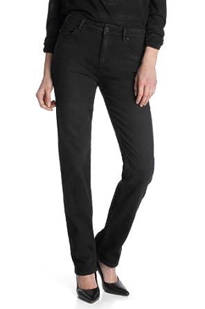 ESPRIT Jeans Droit Femme - Noir - Schwarz (955 E RAVEN BLACK) - FR : 26W/34L (Taille Fabricant : 26/34)