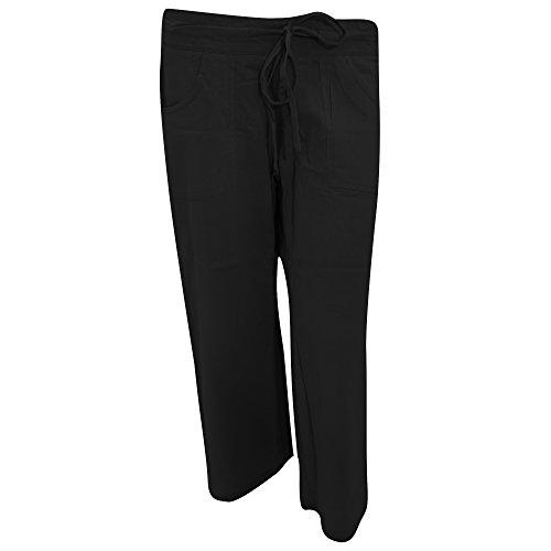 save up to 80% discount shop hot sale online Ladies/Womens Plain Three Quarter (3/4) Length Linen Trousers/Shorts