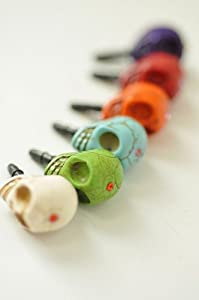 Skull Earphone Jack / Dust Plug for iPhone iPad-colour Randomly send