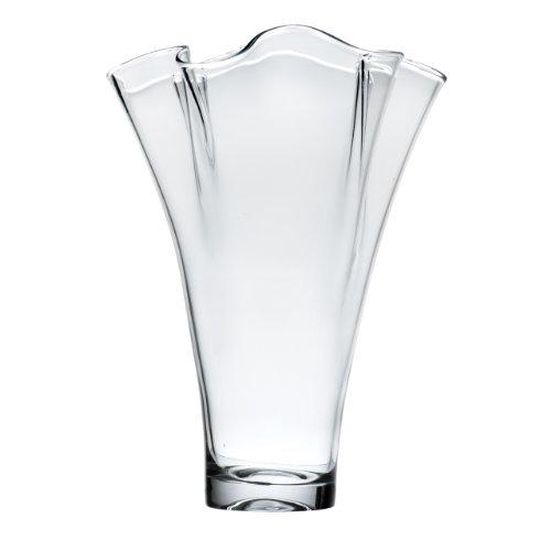 Lenox Organics Ruffle Wide Crystal Vase (Lenox Organics Crystal Bowl compare prices)