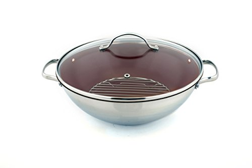 Kevin Dundon SKDCHEFRD Signature Chef's Pot, 12-Inch, Red (Kevin Dundon Steamer compare prices)