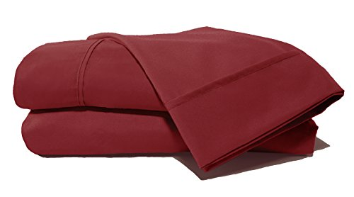 D. Charles Luxury Microfiber Sheets With Near Cotton Finish And 2 Extra Bonus Pillowcases (Burgundy, King)