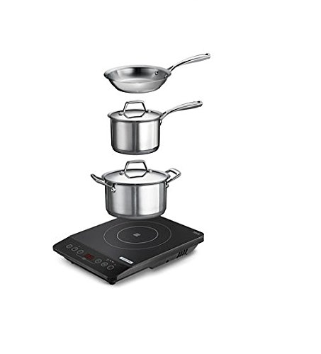Tramontina 6 Piece Portable Cooktop Induction Cooking System (Cooktop 3 Burner compare prices)