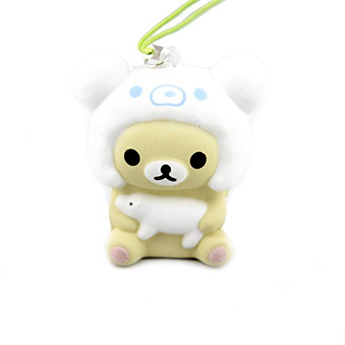 [Kawaii San-X Vanilla Squishy Phone Strap Cute NEW Gift for Baby] (Puck To The Face Costume)
