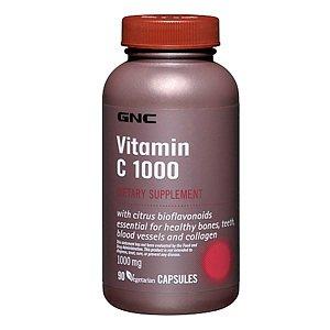 Gnc Vitamin C 1000, Vegetarian Capsules, 90 Ea