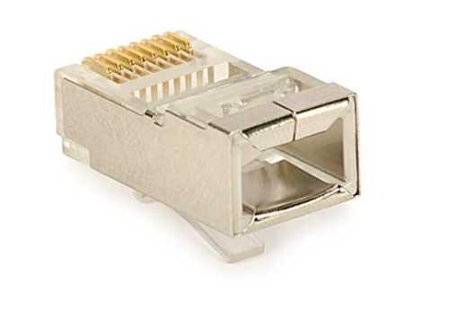 Kabel Stecker RJ-45 / RJ45 8 pin zum crimpen abgeschirmt