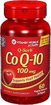 Vitamin World Q-Sorb Co Q-10 100mg, 60 Softgels