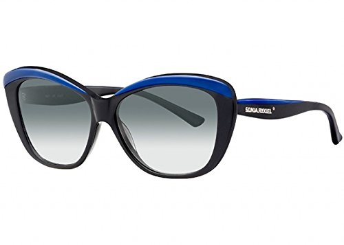 Sonia Rykiel - SR 7667, Cat eye, acetato, donna, BLACK BLUE/GREY SHADED(5), 58/14/140