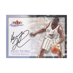 Kenny Thomas Houston Rockets 2000 Fleer Autographics Certified Autographed Hand... by Hall of Fame Memorabilia