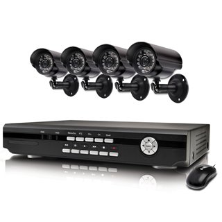 Swann Alpha D02C5 H.264 4 Channel DVR &#038; 4 CCD Weather Resistant Cameras SWA43-D2C5