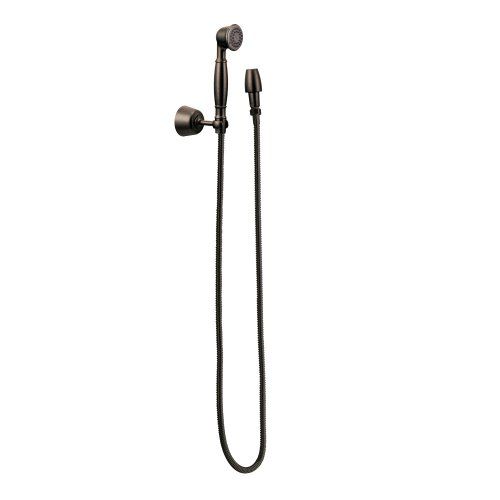 Moen 3861ORB Single Function Hand Shower with Wall Bracket and Hose, Oil Rubbed Bronze (Moen Bracket compare prices)