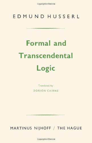 Formal and Transcendental Logic