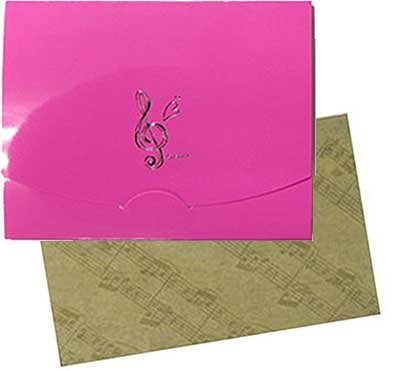 和紙あぶらとり紙≪ト音記号ピンク ≫