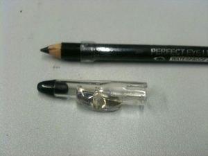 Krazygirl Perfect Eye Liner Glitter Pencil + Sharpener (001 Sparkly Black)