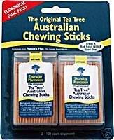 Thursday Plantation - The Original Australian Tea Tree Chewing Sticks (Toothpicks) Twin Pack Special Cinnamon Flavor + Original - 200 Stick(S)