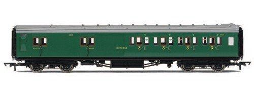 Hornby R4342A SR Maunsell 4 Compartment Brake 3rd Class High Window A 3722 00 Gauge Coach Rolling Stock