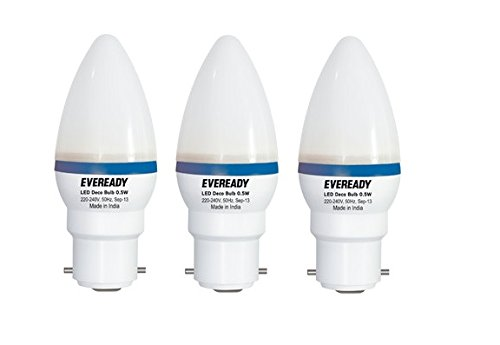 Eveready-0.5W-Blue-Deco-LED-Candle-Bulb-(Pack-of-3)